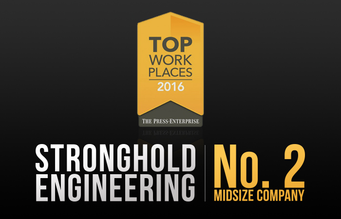 Stronghold Wins Press Enterprise Top Work Places Award