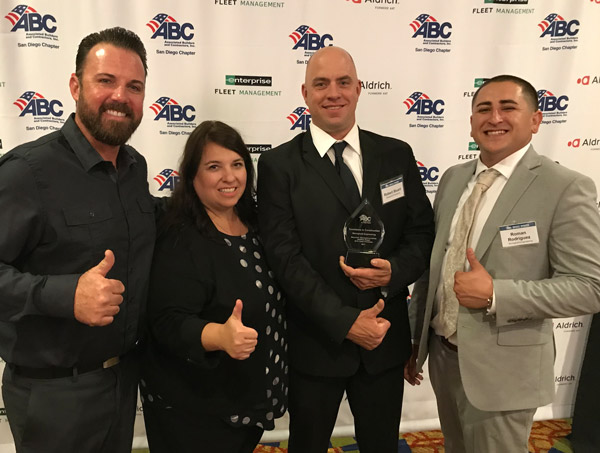 Stronghold Engineering Wins Two Awards At The 2017 ABC Sand Diego Excellence In Construction Awards.