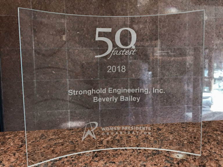Beverly Bailey / Stronghold Engineering, Inc., Recognized at 11TH Annual Awards Ceremony Held in Los Angeles.