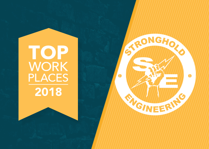 Stronghold Engineering Earns Top Work Place Recognition 4 Years In A Row