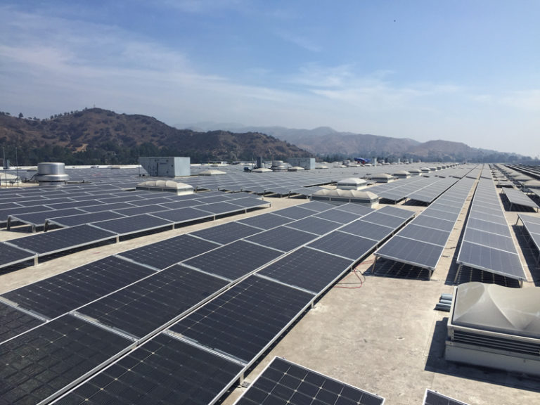 Stronghold Engineering partners with PermaCity to build LA's largest rooftop solar installation.